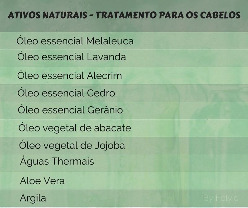 Tratamentos naturais para os cabelos com os óleos essenciais e vegetais (Ativos Naturais).