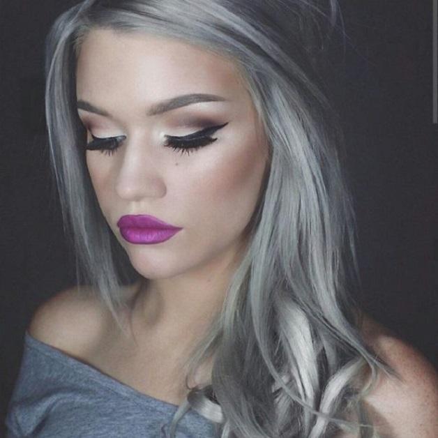 exemplo gray hair, platinados