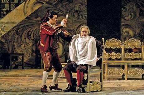 Cena da ópera Il Barbiere di Seviglia